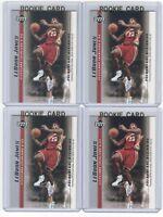 x4 LEBRON JAMES 2003-04 Upper Deck Rookie Card lot/set Mint! Gold Top Loaders #7