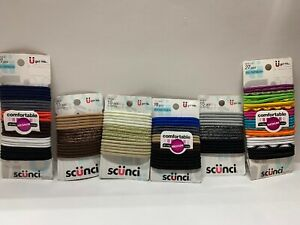Scunci No Damage Elastics Ponytailers Hair Ties Assorted Lot~ 117 Count Total