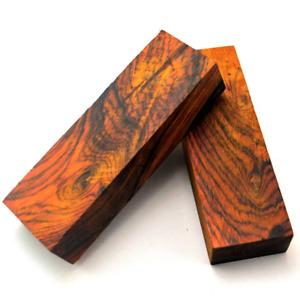 2 X Afrikanisch Cocobolo Sandelholz Messer Schleuder Griff Holz DIY Holzarbeit