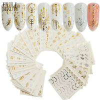 30x Water Decals Stickers Flower Feather Manicure DIY Nail Art Transfer Sticker