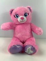 """BUILD A BEAR WORKSHOP PINK GIRL TEDDY BEAR WITH WINGS 16"""" SOFT TOY PLUSH"""