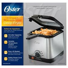 Oster 1.5qt Deep Fryer - Stainless Steel -Condition New