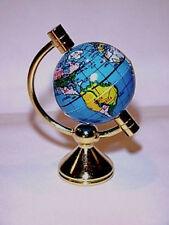 Dollhouse Miniature Rotating World Globe on Brass Stand Doll House Miniatures