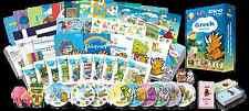Greek for Kids Premium set, Greek learning DVDs, Books, Posters, Flashcards