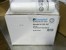 Water Filters 1Ss-30 Campbell 5 Micron Sediment Cartridges Reverse Osmosis 30Pk