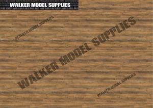 1:35 scale (3xA4) Wood Floor - Peel and Apply decal /model car, Design 4