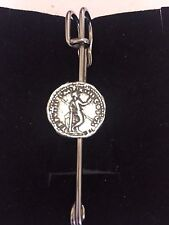 """Denarius Of Titus Man With Spear WC25 Scarf Brooch and Kilt Pin Pewter 3"""" 7.5 cm"""