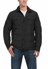 NEW Mens Weatherproof 32 Degrees Heat Down Lightweight Shirt Jacket BLACK-M