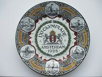 1928 Amsterdam Olympic Delft plate IX Olympiade Multi-Color