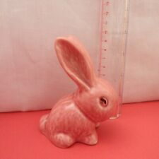 More details for vintage sylvac pink snub nose rabbit figure 10 cms tall