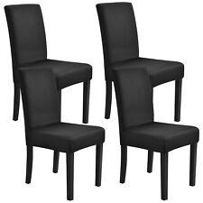 [neu.haus]® 4x Stuhlhusse 42-53cm Schwarz Schonbezug Stuhlbezug Stuhlüberzug