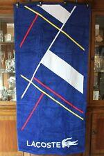 """Lacoste Blue/Multi No Limit Beach Towel 100% Cotton NWT 36""""x 72"""" Authentic!!!"""