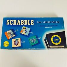 Scrabble for Juniors Vintage 1955 Board Game Complete In Box
