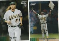 20 Stadium Club Chrome A.J. Puk Rickey Henderson Oakland Athletics