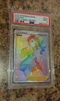 Graded Pokemon Card Rebel Clash #203 Full Art Sonia Secret Rare Mint PSA 9