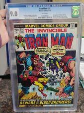 Marvel Comics Iron Man #55 CGC 9.0 1st App of Thanos Drax White Pages Avengers