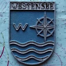 Westensee alemán Navy ship Metal Tampion Placa Crest
