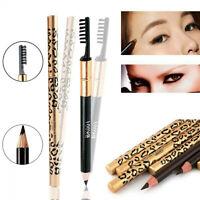 2 in1 Double Ended Waterproof Eyeliner Eyebrow Pen+Brush Cosmetic Tool