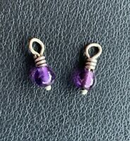 Brighton Mini Small Purple Beads: Perfect for Hoop Earrings-Mini Lot of 2