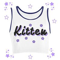 BDSM Sex Themed Submissive gift Crop Top Daddy's Kitten Little Girl DDLG shirt