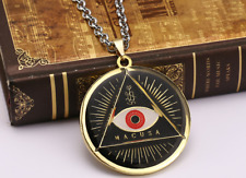 Harry Potter New * Fantastic Beasts MACUSA Gold Eye * Pewter Chain US Seller