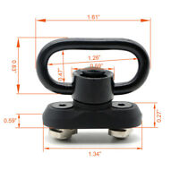 "New Push Button 1.25"" QD Sling Swivel Mount Kit with M-lok Rail Attachment"