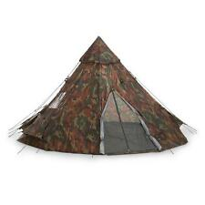 Woodland Camo Teepee Tent 10 X 10 Waterproof Canvas Campers Survival Outdoor