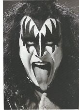 KISS Gene classic in b/w magazine PHOTO / mini Poster 11x8 inches