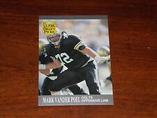 FOOTBALL CARD FLEER ULTRA 1991 MARK VANDER POEL ROOKIE #296