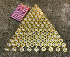 Football Medals Gilt gold & Ribbons x 100