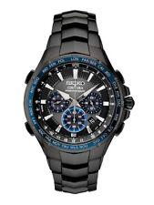 New Seiko Solar Coutura Radio Controlled Black PVD Bracelet Men's Watch SSG021