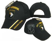 Adult Military US Army 101st Airborne Screaming Eagles Adjustable Black Hat