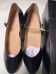 Bloch Dance Shoe Cabaret DN306L Size 10.5 Black New!