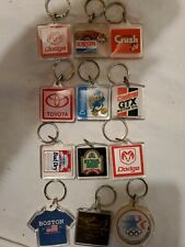 Lot (12) Vintage Lucite Keychain Key Chain Advertising Adv