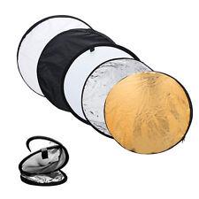 """Portable 24 """" 5 à 60 cm-1 est Plié Photographie Réflecteur de Lumière Circulaire"""