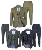 Kids Herringbone Tweed Suit, Vintage Style Page Boys Wedding Check Suits