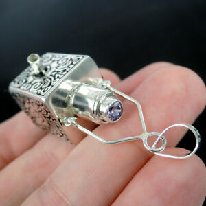 PURPLE ZIRCONIA 925 Sterling Silver Pendant Jewellery