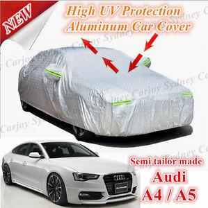 Premium Semi Tailor Made Waterproof Aluminum Car Cover Large Audi A4 A5 Coupe