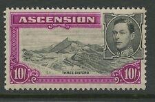 Ascension Island SG47 1938 10s black & bright purple P13.5