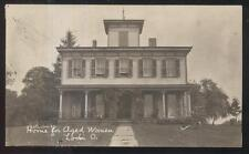 REAL PHOTO Postcard LODI Ohio/OH  Home for Aged Women Large 2 Story House 1907