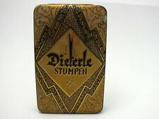 antike Blechdose Dieterle Stumpen, Tabakdose, Blechbox, Sammlerstück