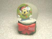 "2011 DISNEY MICKEY MOUSE WREATH JCPENNY BLACK FRIDAY MINI 2.5"" SNOW GLOBE - NICE"