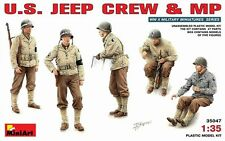 1/35 MiniArt  35047   U.S. WWII Jeep Crew & MP  Figures - Plastic Kit