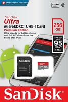 SanDisk 256GB Ultra 633x 95MB/s Class 10 UHS-I Micro SD SDXC Memory Card 256GB
