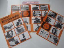 GENUINE LAMBRETTA 4 sided 1970's ACCESSORY LEAFLET - 1 x NOS LEAFLET