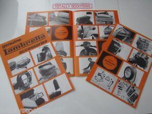 GENUINE NOS LAMBRETTA 4 sided 1970's ACCESSORY LEAFLET - 1 x NOS LEAFLET