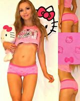 NWT Sanrio Hello Kitty SEAMLESS soft microfiber panties S,M Candy pink