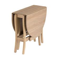 Drop Leaf Table HEATPROOF Folding Dining Kitchen Gateleg Seat 6 Oval Natural Oak