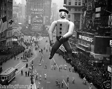 1940s Macy's Parade Clown Balloon Times Square 8 x 10 Photograph