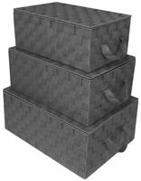 Sorbus Storage Box Woven Basket Bin Container Tote Cube Organizer Set Stackable